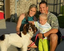 Scotty - with his new family  6-8-13